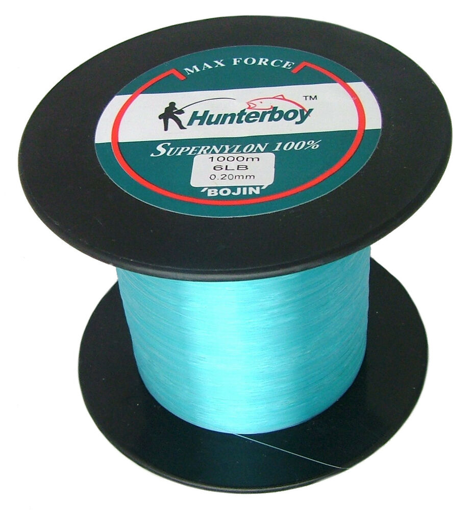 Hunterboy maxforce super nylon fishing line 1000m 6lb blue for What is the best fishing line