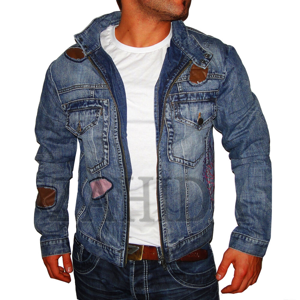 herren jacke jeansjacke blau vintage young fashion club freizeit herbst s m neu ebay. Black Bedroom Furniture Sets. Home Design Ideas