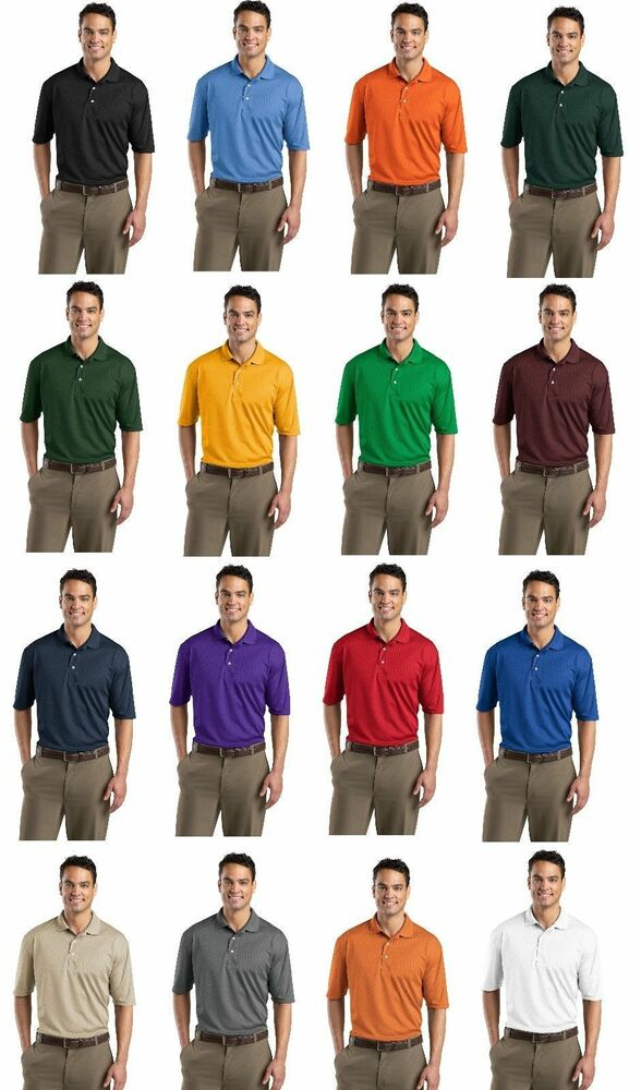 Sport tek dri fit mesh mens golf polo tennis sport shirt for Mens xs golf shirts