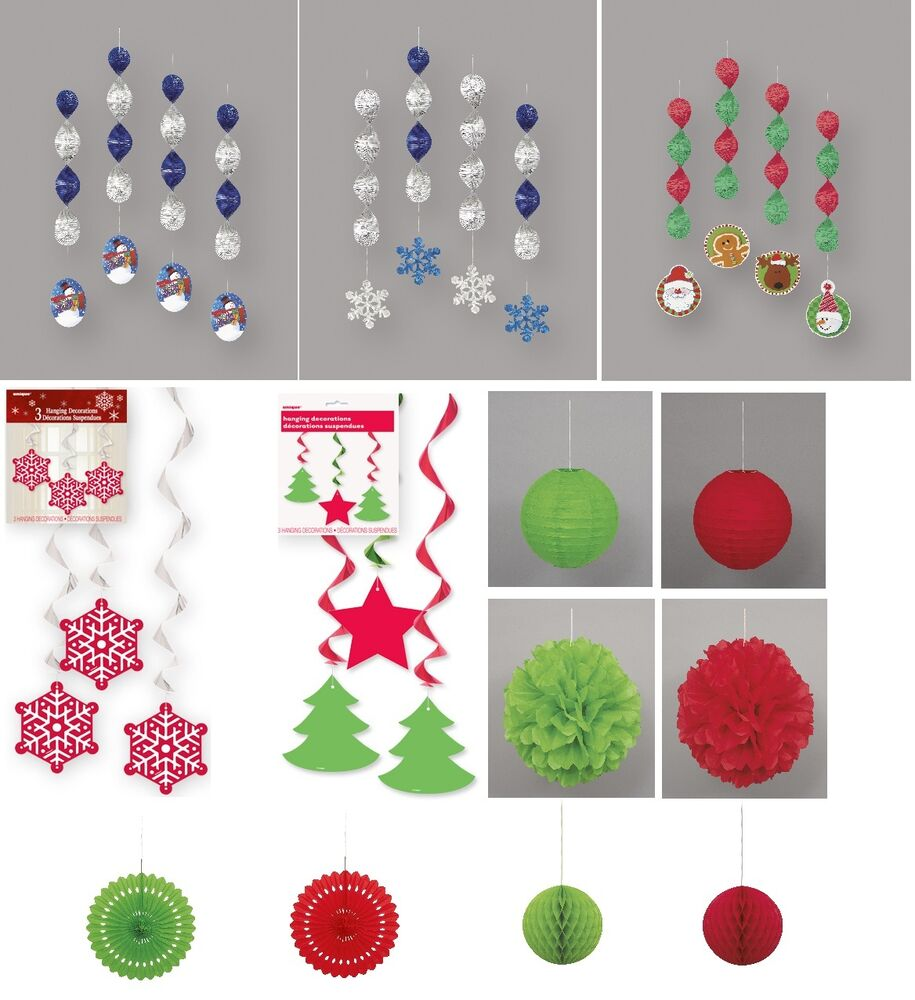 Christmas Party Decorations Hanging Swirls Lanterns