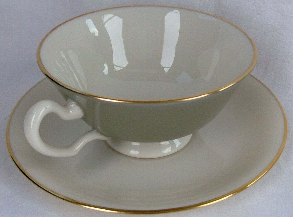 Lenox China Made In USA Special Footed Cup & Saucer Set 2