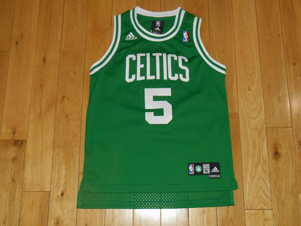 63261009d adidas KEVIN GARNETT Green BOSTON CELTICS  5 Youth Swingman NBA Team JERSEY  Med