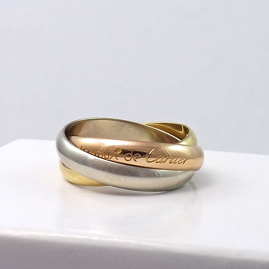 Cartier Trinity Wedding Ring: MUST DE CARTIER 18K TRICOLOR GOLD TRINITY AMOUR ROLLING