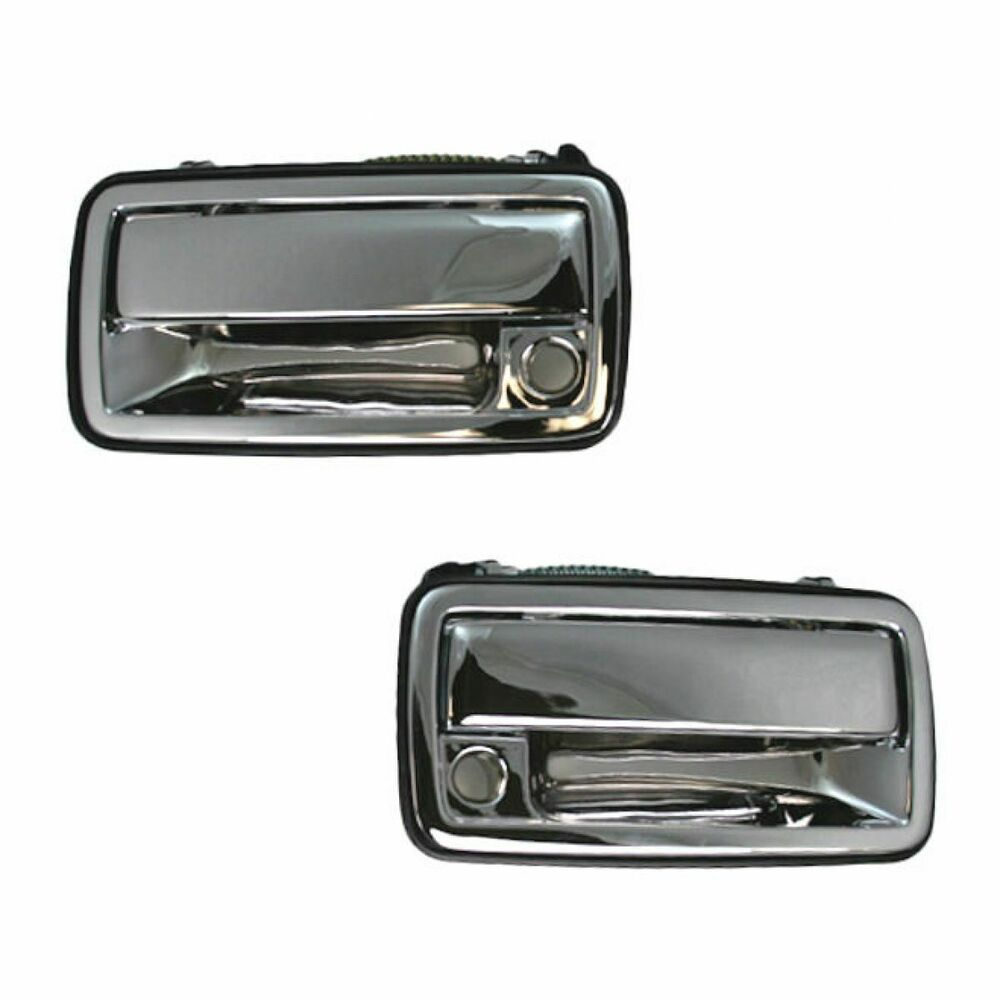 Chrome Outside Exterior Door Handle Pair Set S 10 Front For Chevy Pickup Truc