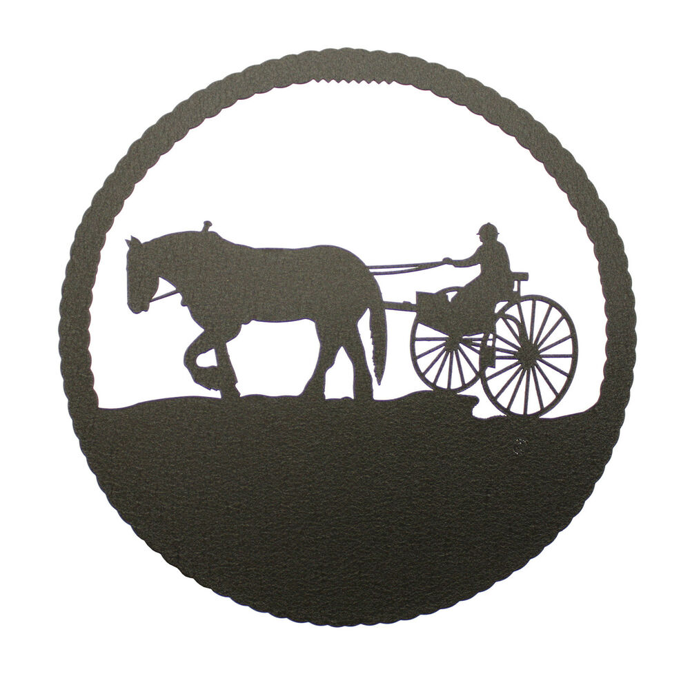 Vintage Horse and Buggy Silhouette by HavenVintage on Etsy |Metal Horse And Buggy Silhouette