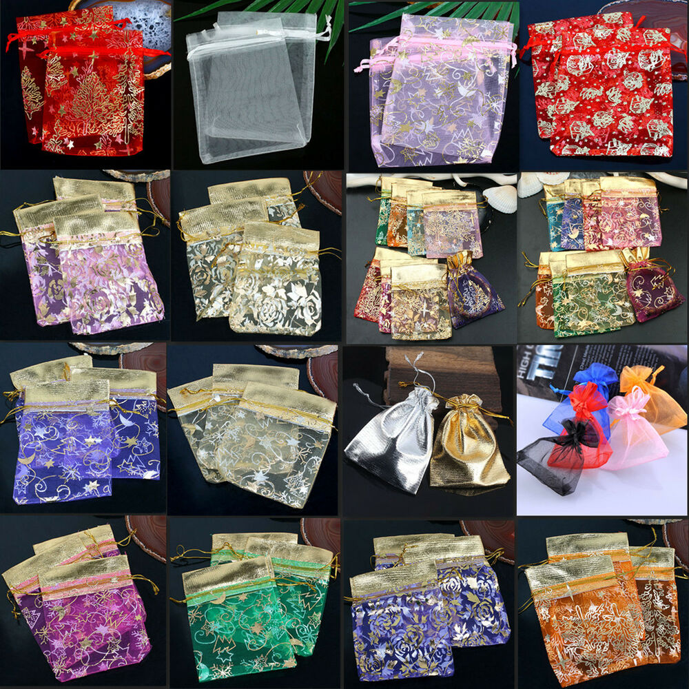 Gift Bags Bulk Wedding Uk : ... Voile Pouches Jewelry Gift Wedding Christmas Xmas Favor Bag eBay