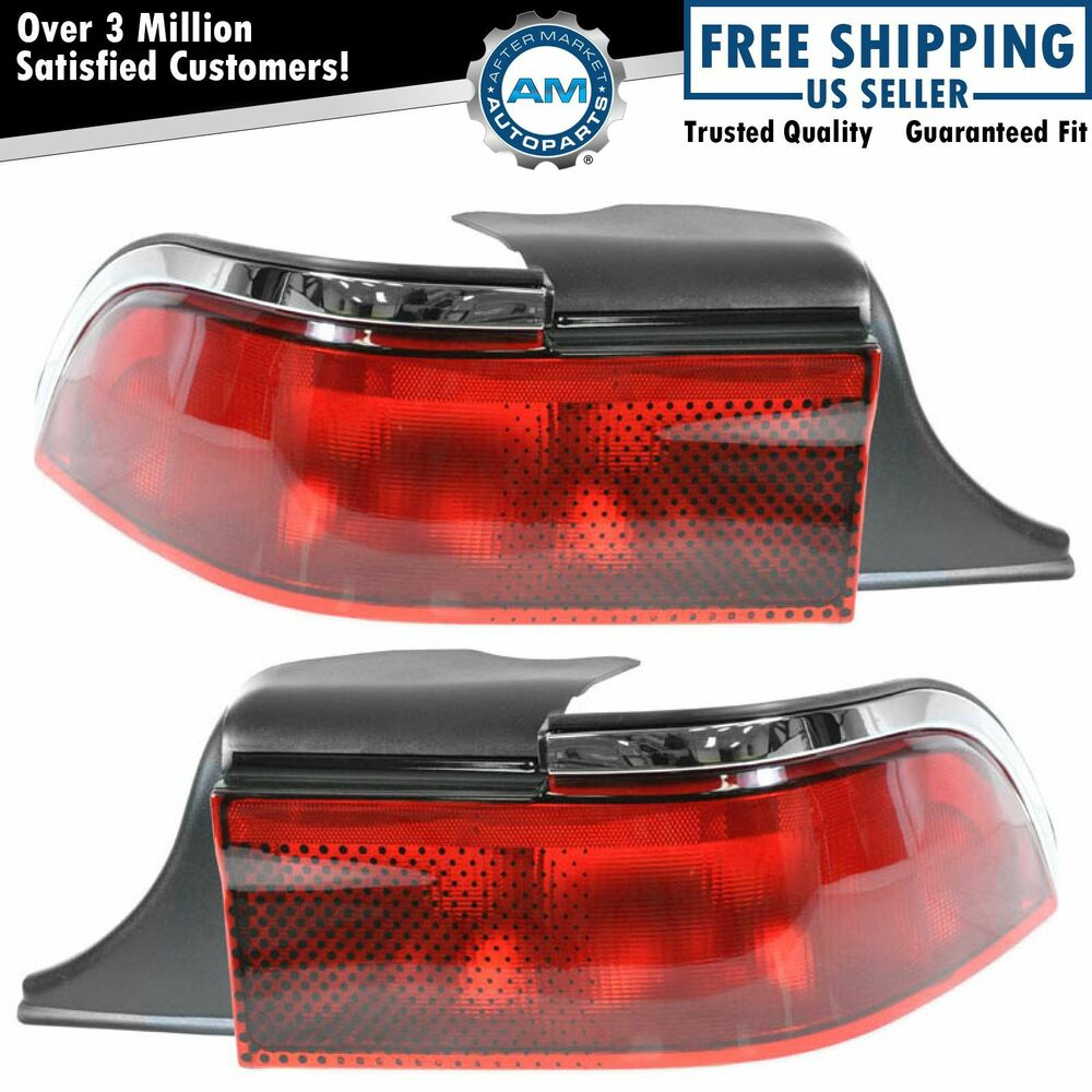 Taillight Taillamp Pair For Mercury Grand Marquis 95 96 97