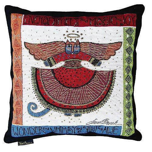 Decorative Tapestry Throw Pillows : Laurel Burch Angelicat Angel Cats Square Decorative Tapestry Throw Pillow NWT eBay