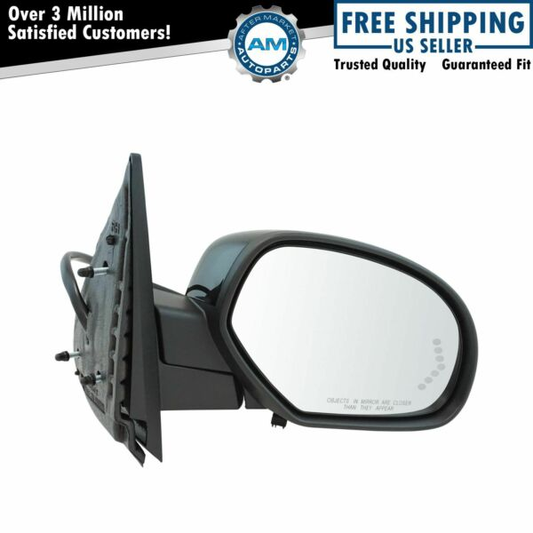 Mirror Power Folding Heated Signal Puddle Right RH for Chevy GMC Pickup SUV