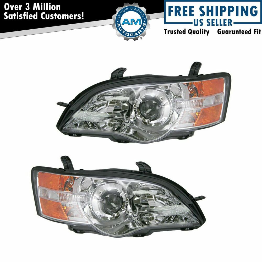 Front Headlights Headlamps Lights Lamps Pair Set For 06