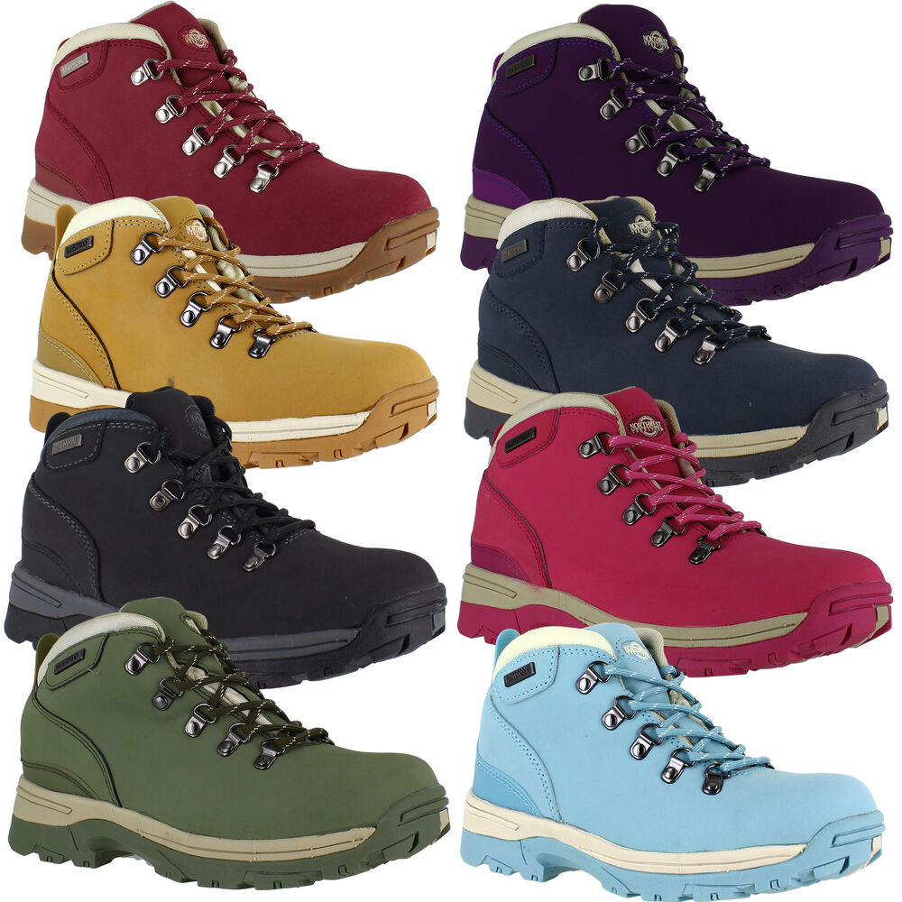 Brilliant Ladies Womens Walking Hiking Trail Lace Up Combat Army Ankle Boots Shoes