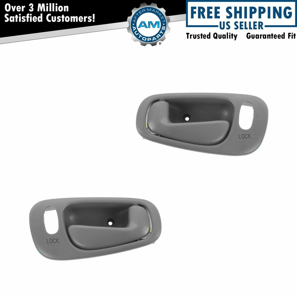 Inside door handle light gray front pair set for toyota Toyota corolla door handle interior