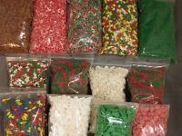Christmas Holiday Xmas Cookie & Cake Sprinkles EIGHT -3 oz. Packages