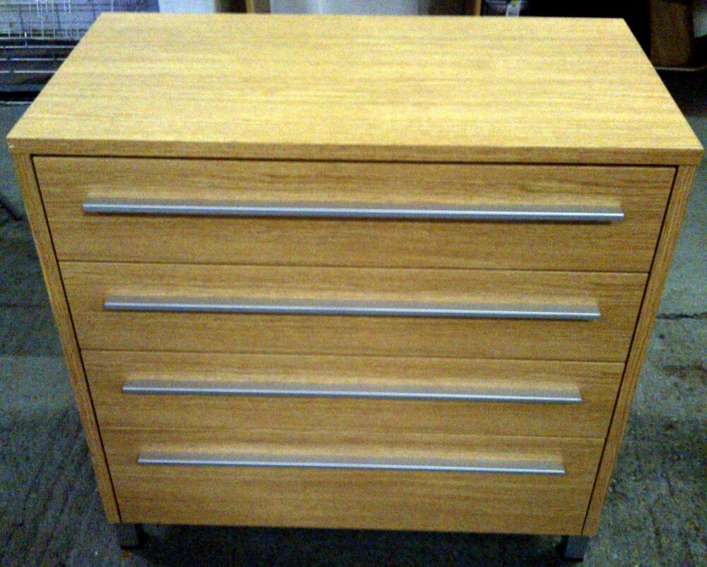 Modern oak effect 4 drawer unit chest of drawers bedroom for Bedroom furniture chest of drawers