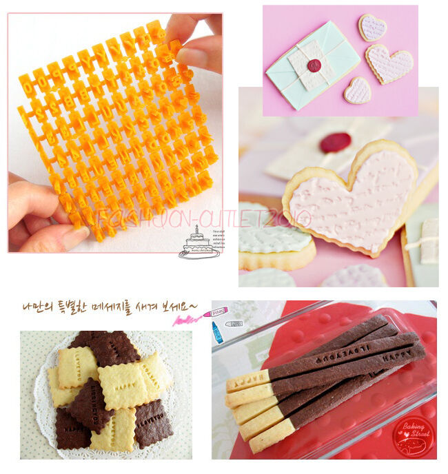 Cake Decorating Letter Cutters : 92pcs Number/Letter/Alphabet Biscuit Cookie Stamp Cutters Cake Decorating Tools eBay