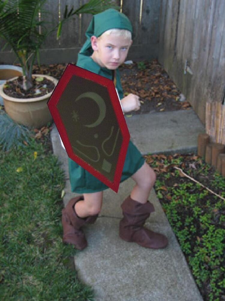 Link Costume MIRROR SHIELD kids Ocarina of Time Zelda Cosplay custom made in USA | eBay  sc 1 st  eBay & Link Costume MIRROR SHIELD kids Ocarina of Time Zelda Cosplay custom ...