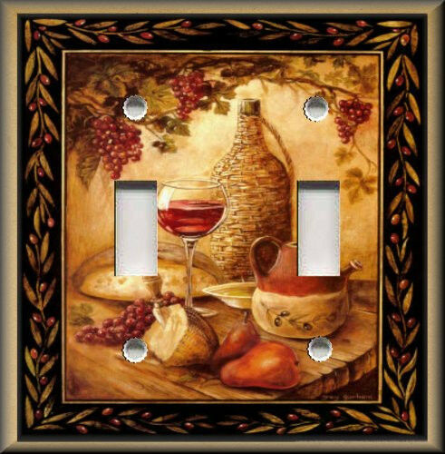 Light Switch Plate Cover Tuscan Wine And Fruit Kitchen