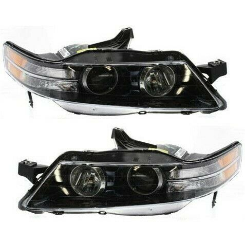 Details About Headlight Set For 2007 2008 Acura Tl Type S Model Left And Right 2pc