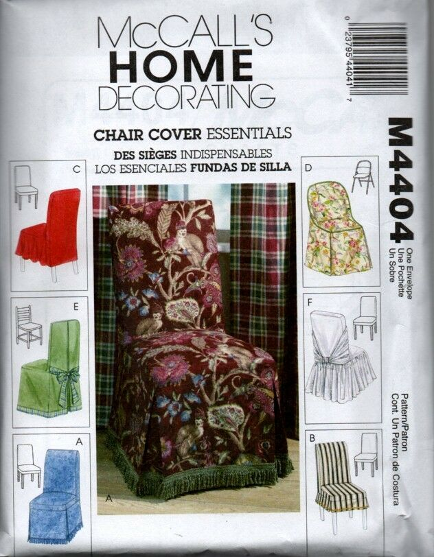Mccall S 4404 Home Decorating Sewing Pattern Slipcovers