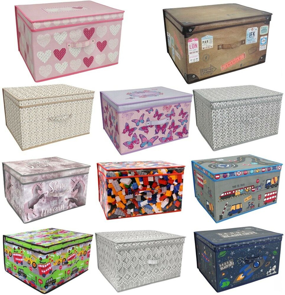 Toy Bin Organizer Kids Childrens Storage Box Playroom: LARGE CLOTHES LAUNDRY BEDDING TOY STORAGE BOX BAG