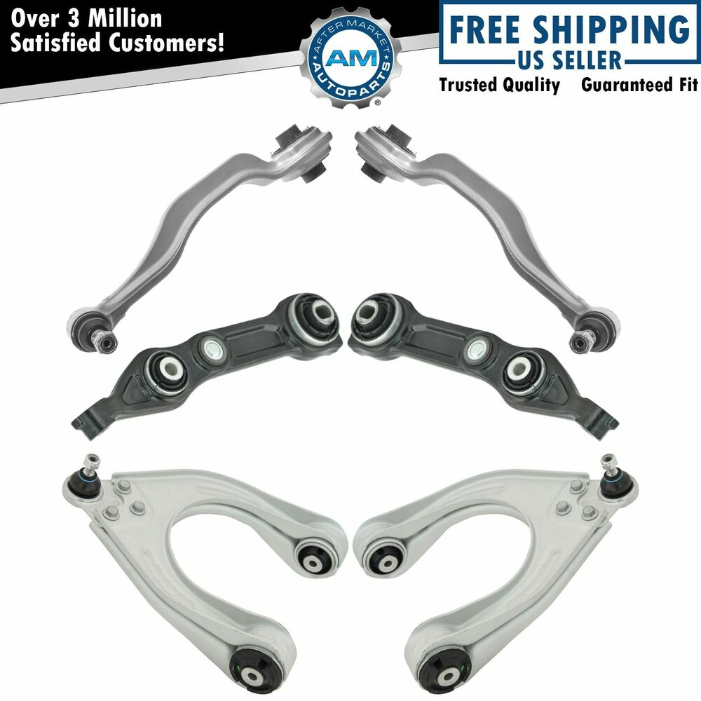 Front upper lower control arm kit set of 6 for mercedes for Mercedes benz control arm