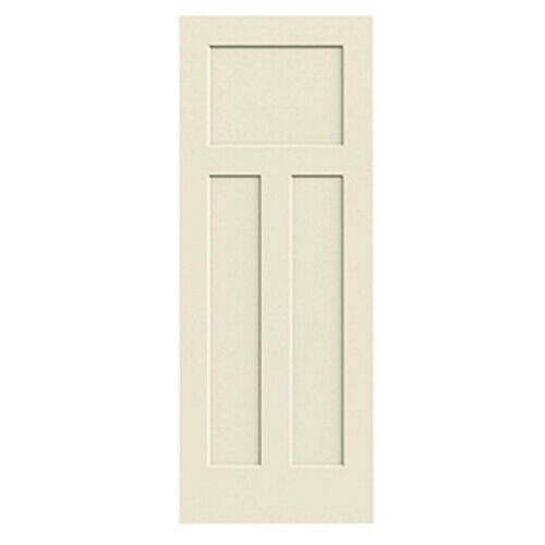 Craftsman 3 Panel Primed Smooth Molded Solid Core Wood Composite Interior Doors Ebay