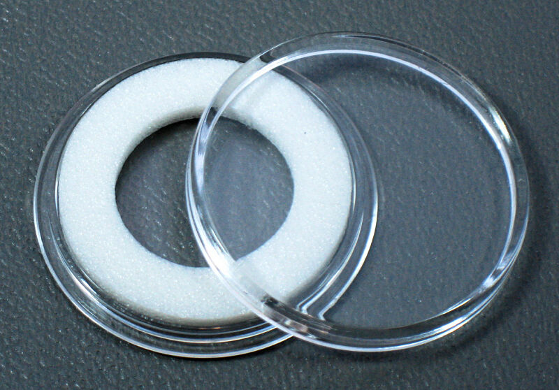 100 Air Tite 16mm White Ring Coin Holder Capsules For 5 1