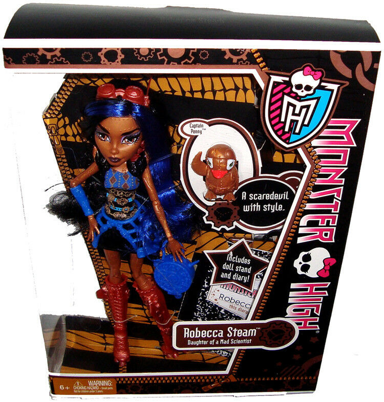 Monster high robecca steam doll mib daughter mad scientist x3652 steampunk toy ebay - Monster high robecca steam ...
