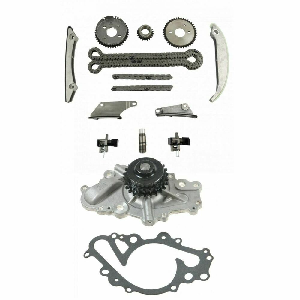 complete timing chain component set w   water pump for