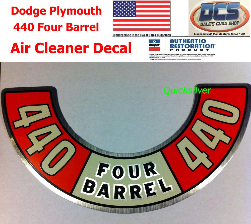 Plymouth Air Cleaner : Dodge plymouth four barrel air cleaner