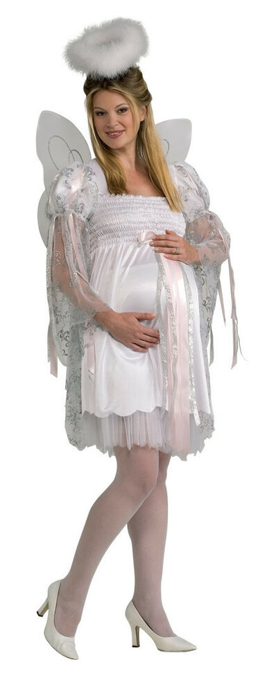 Angel white christmas maternity mommy to be dress up halloween adult
