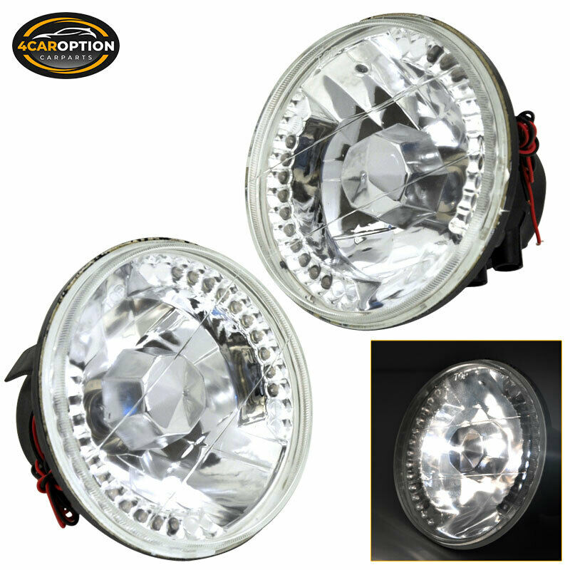 Led Headlamp Bulbs >> Fits Crystal Round 5 3 4 Inch 5.75 Inch LED Sealed Beam Conversion Headlights | eBay