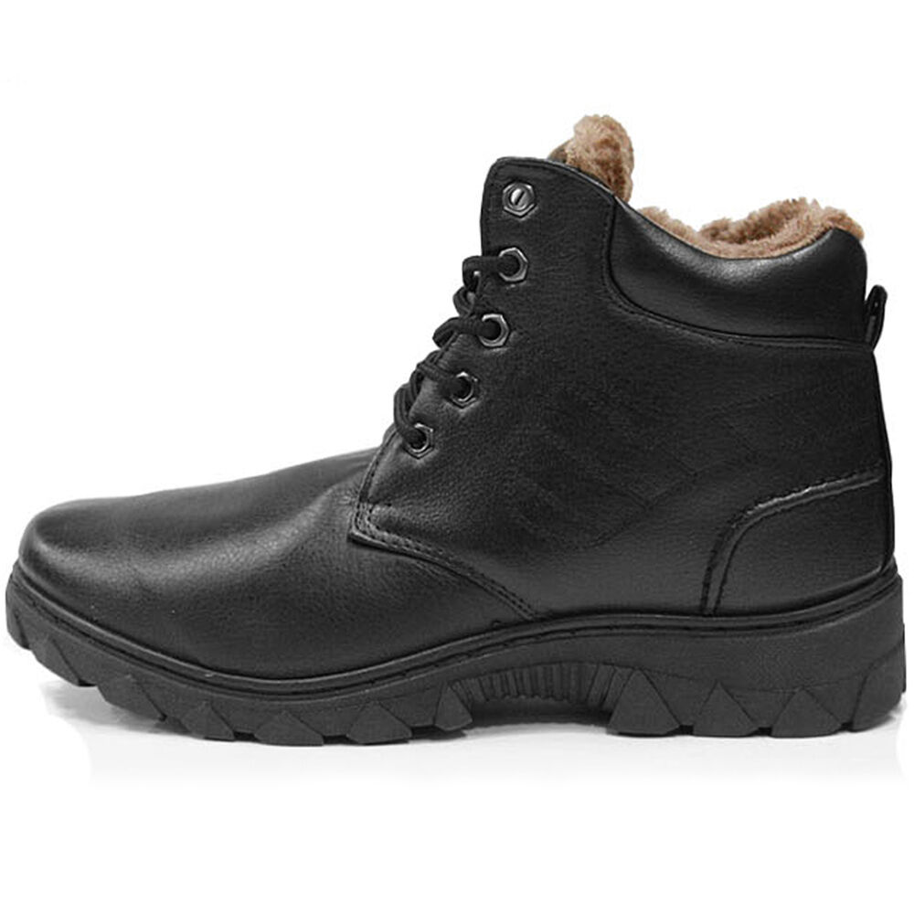 new trend snow winter working mens black boots shoes ebay