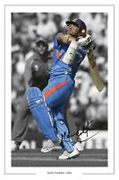 SACHIN TENDULKAR INDIA CRICKET SIGNED PHOTO PRINT