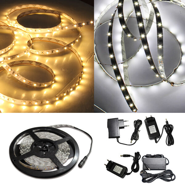 1 10m led strip 3528 band leiste streifen set smd 60 leds. Black Bedroom Furniture Sets. Home Design Ideas