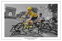 BRADLEY WIGGINS MARK CAVENDISH 2012 TOUR DE FRANCE SIGNED AUTOGRAPH PHOTO PRINT