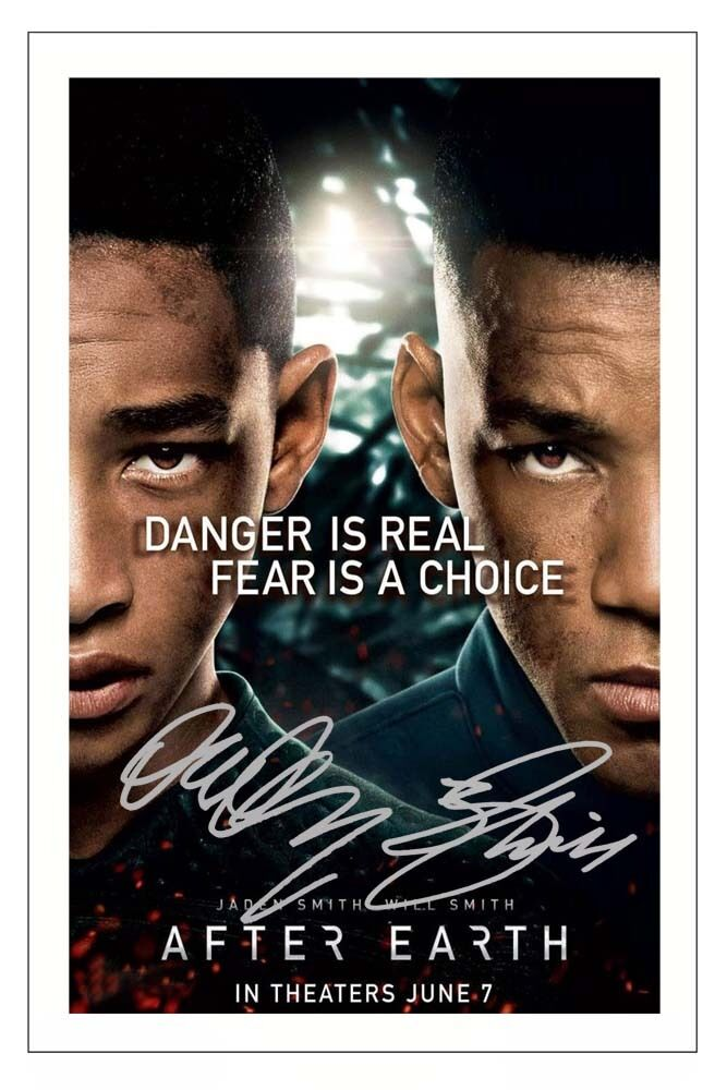 WILL & JADEN SMITH AFTER EARTH SIGNED PHOTO PRINT ...