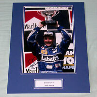 NIGEL MANSELL WILLIAMS F1 FORMULA ONE HAND SIGNED AUTOGRAPH PHOTO MOUNT