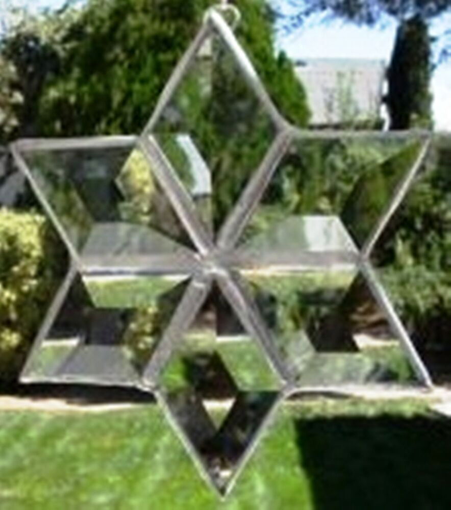 Stained glass project kit small diamond bevels make a 6 for Projects with glass
