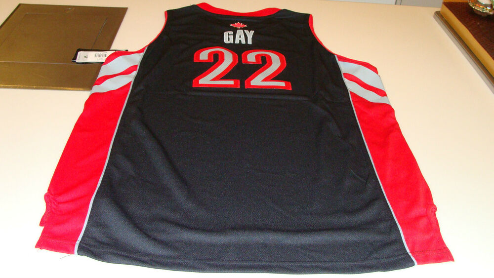 NBA Toronto Raptors Rudy Gay Black Youth XL Adidas Basketball Jersey  Swingman  08db4ce26