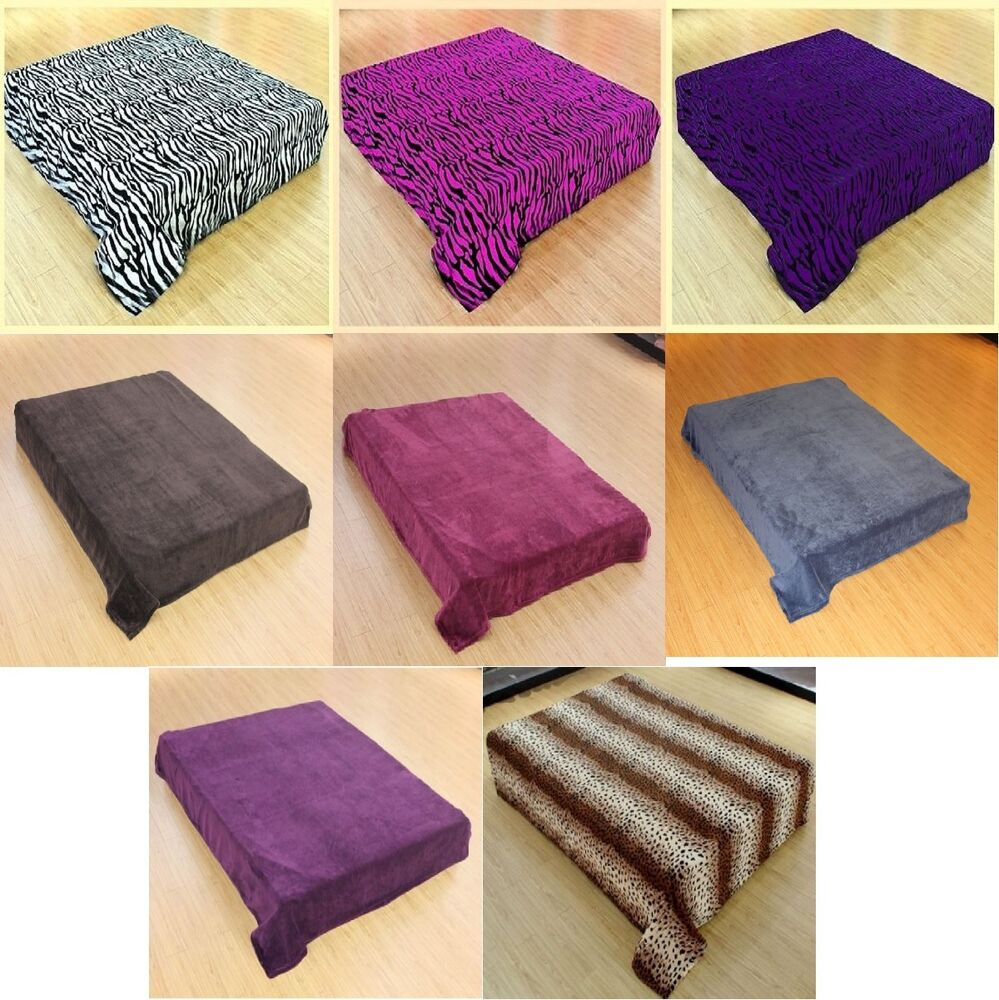 Super soft solid or animal print microfiber throw blanket for Soft blankets and throws