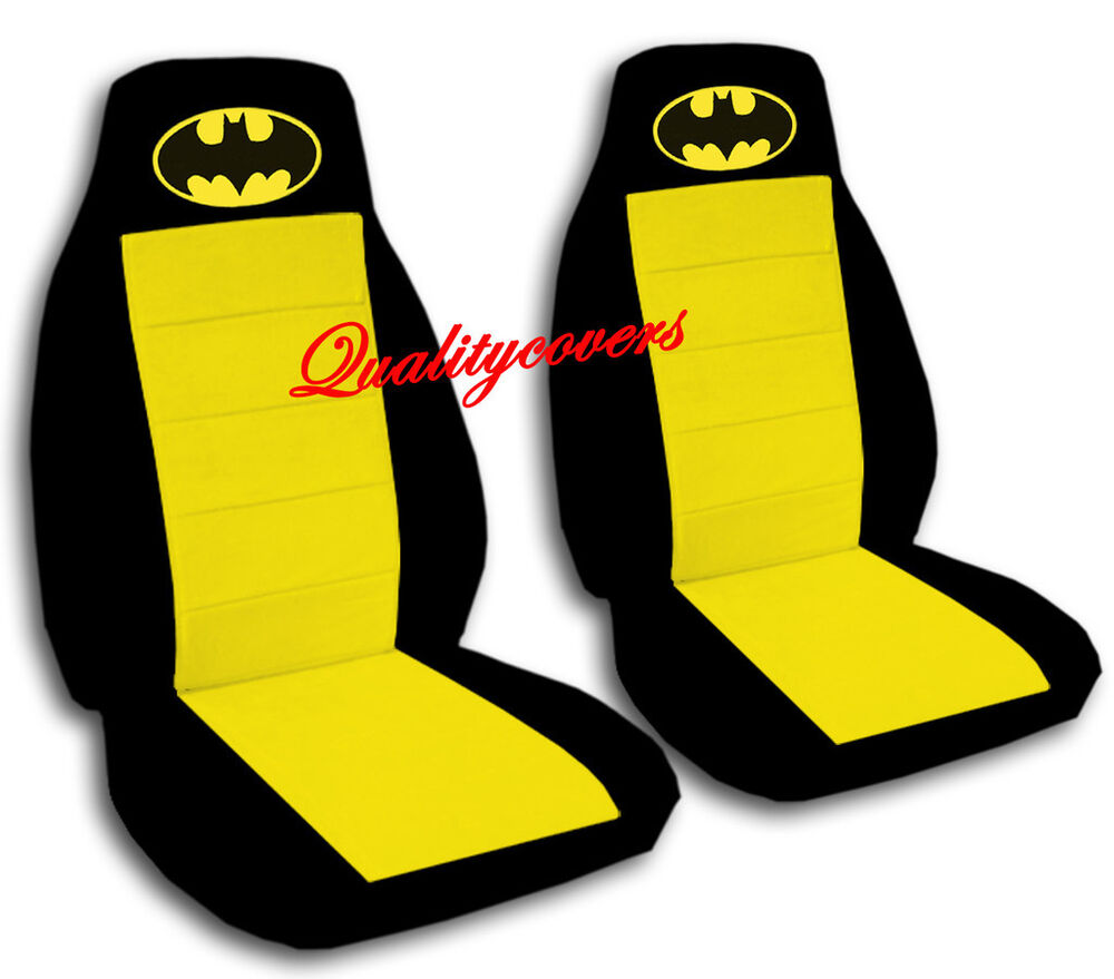 Black And Yellow Bat Seat Covers Honda Civic With Side