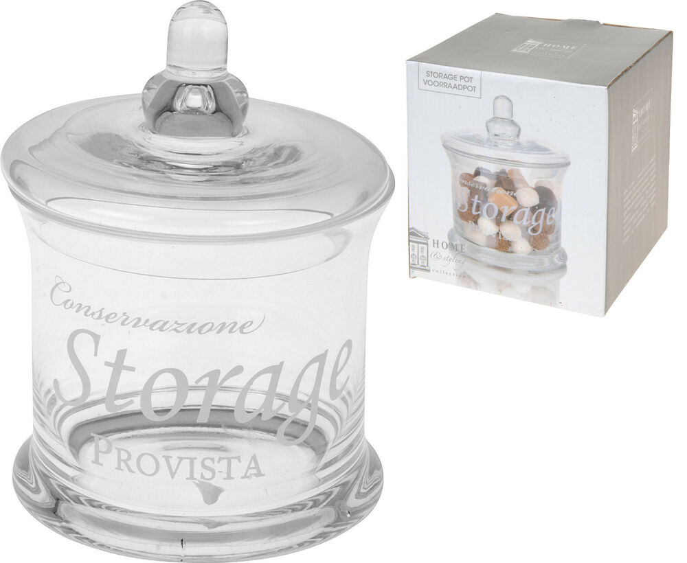 lovely glass storage jar with glass lid cookies sweet jar
