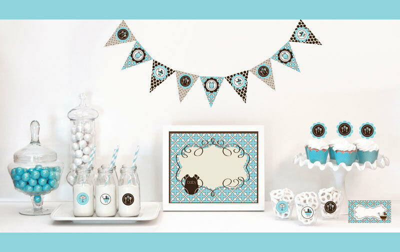 Blue Boy Baby Shower Party Decorations Starter Kit | eBay
