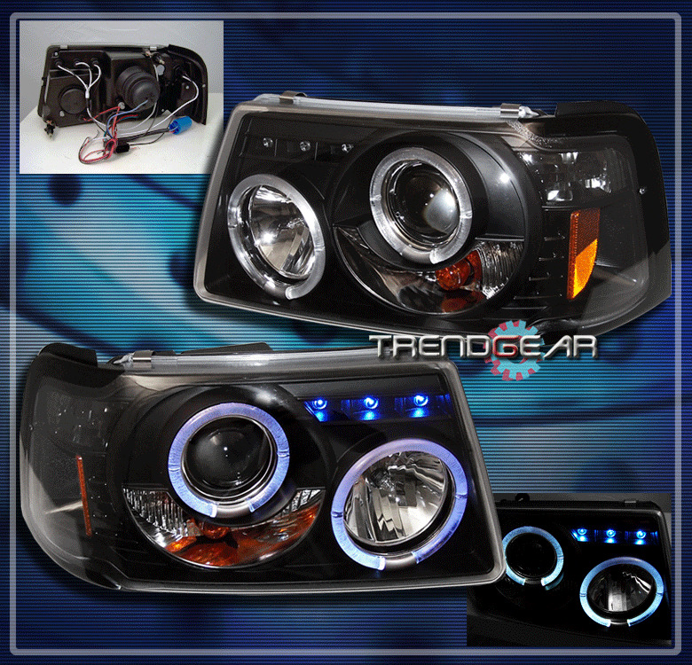 Ford Ranger Projector Headlights : Ford ranger dual halo led projector headlights