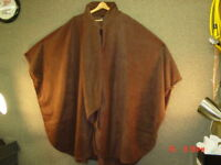 NWT NWOT Ladies Womens Cape Cloak Coat Brown Evening Nice
