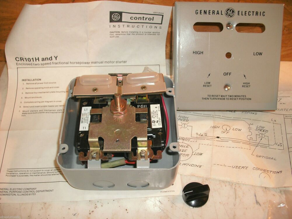 Ge general electric cr101y610b manual motor starter 2 for General electric motor starters