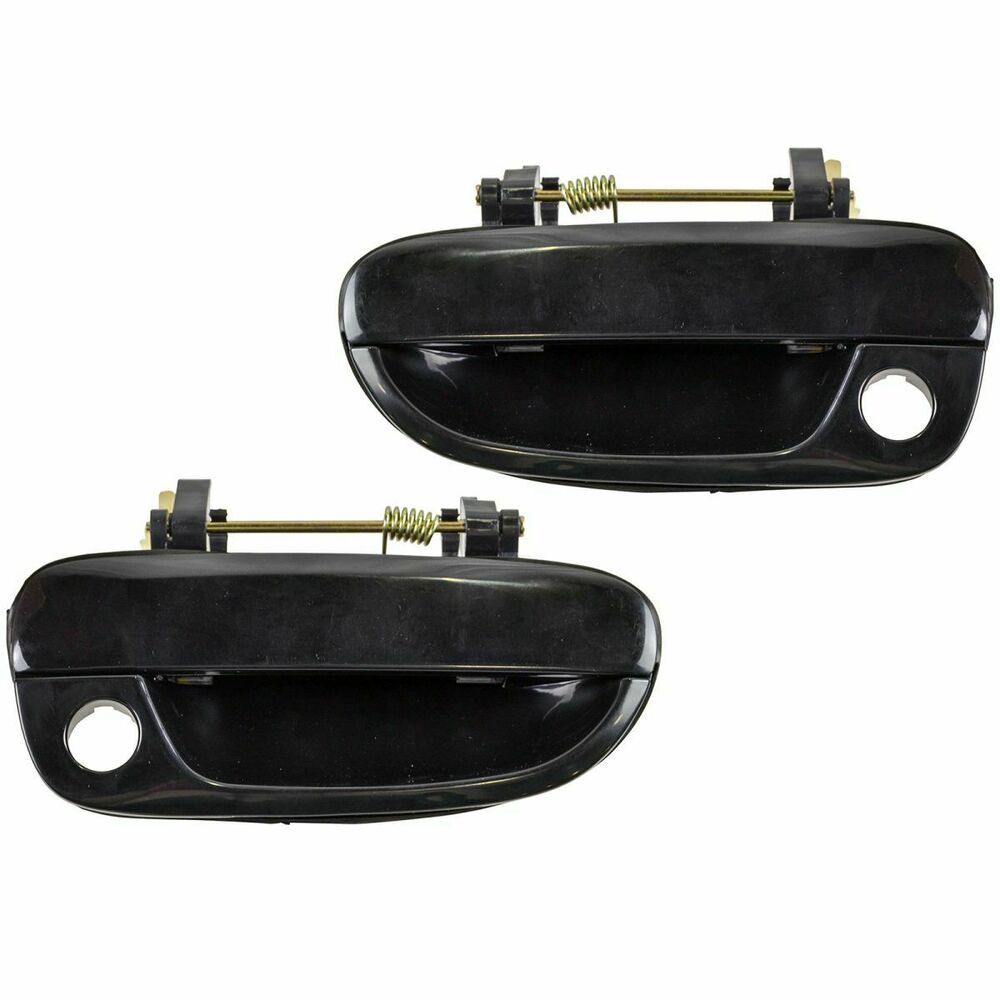 Black Front Outside Exterior Outer Door Handle Pair Set For 00 06 Hyundai Accent Ebay: hyundai accent exterior door handle