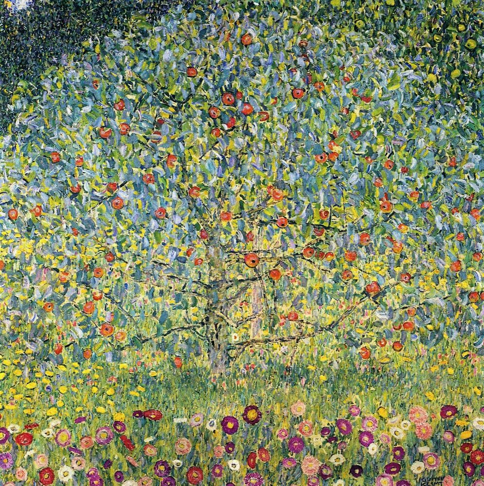 apple tree by gustav klimt giclee fine art print reproduction on canvas ebay. Black Bedroom Furniture Sets. Home Design Ideas