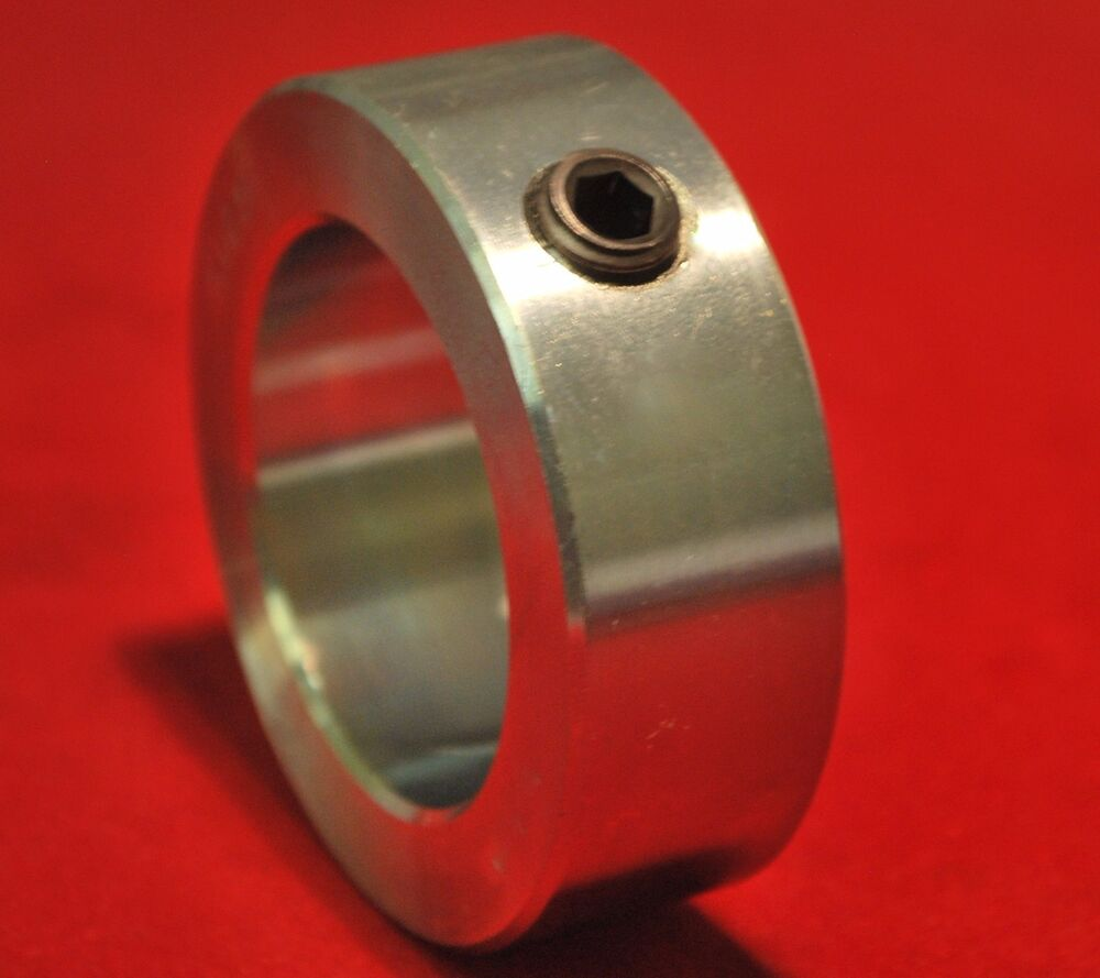 Quot solid shaft collar zinc plated steel axle stop